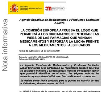 Comienzo del Comercio Electrónico para las Farmacias Españolas